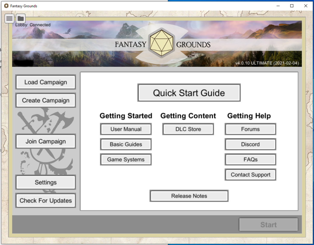 Fantasy Grounds Launcher