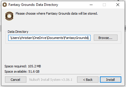 Fantasy GRounds Daten Pfad