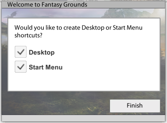 Fantasy Grounds Updater Shortcuts