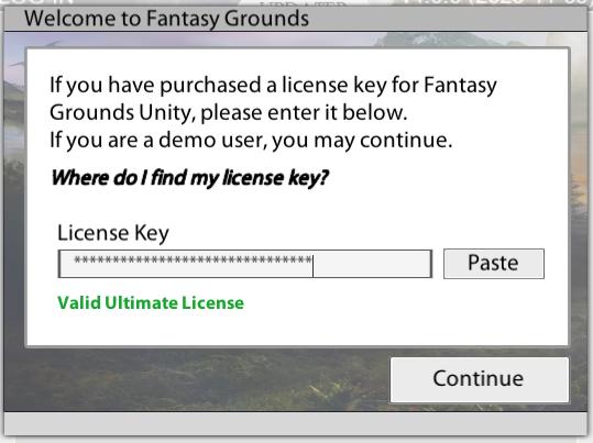 Fantasy Grounds Lizenz Key abfrage