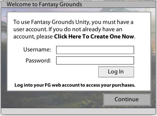 Fantasy Grounds Login
